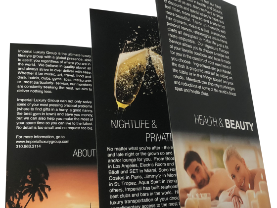 Multi-fold Brochure - Five fold, Folded, 4 Color, Print Sample