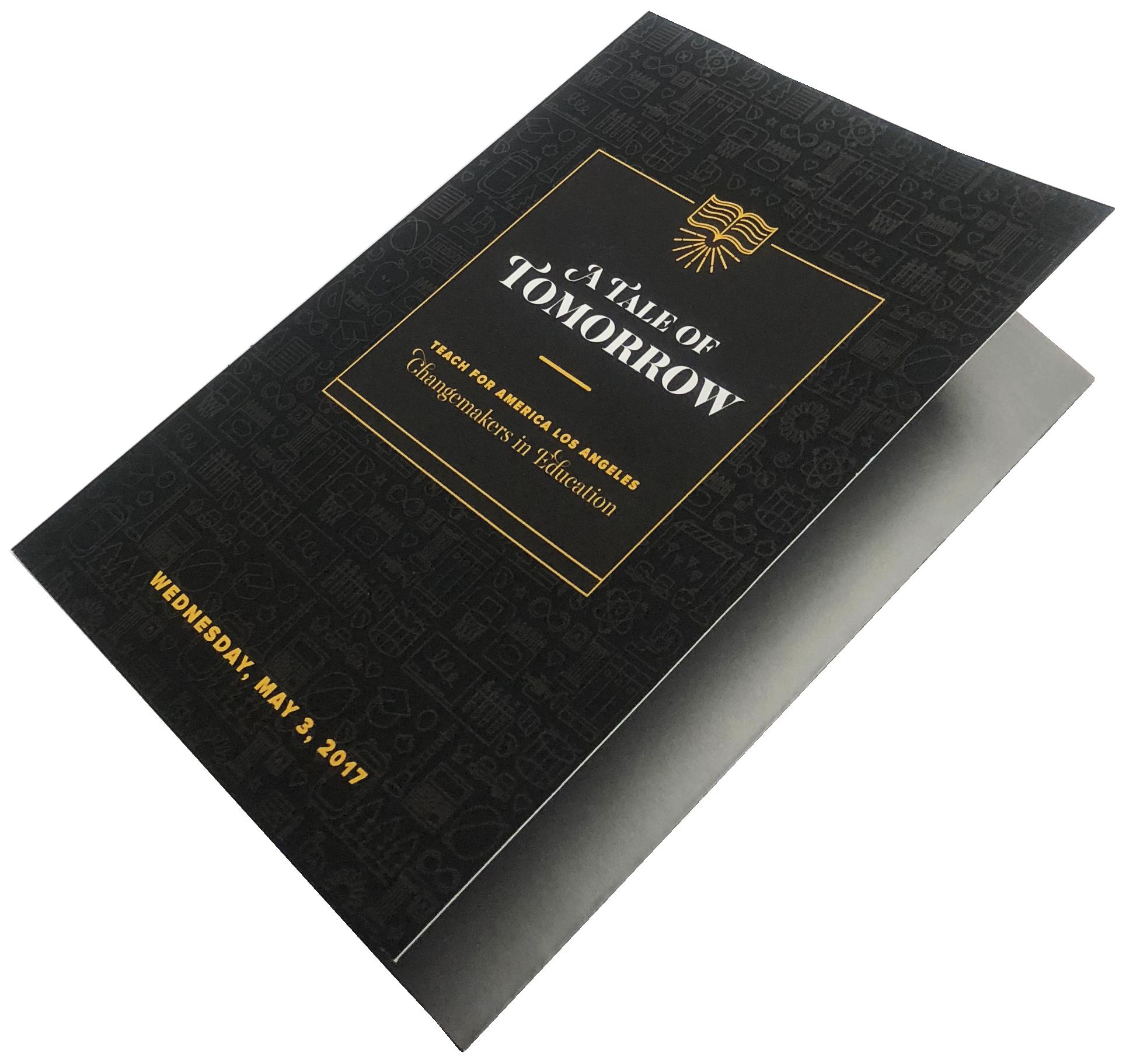 Invitation Print Sample - Folder, 4 Color, Digital Printing