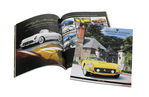 Offset printing catalog, perfect bind