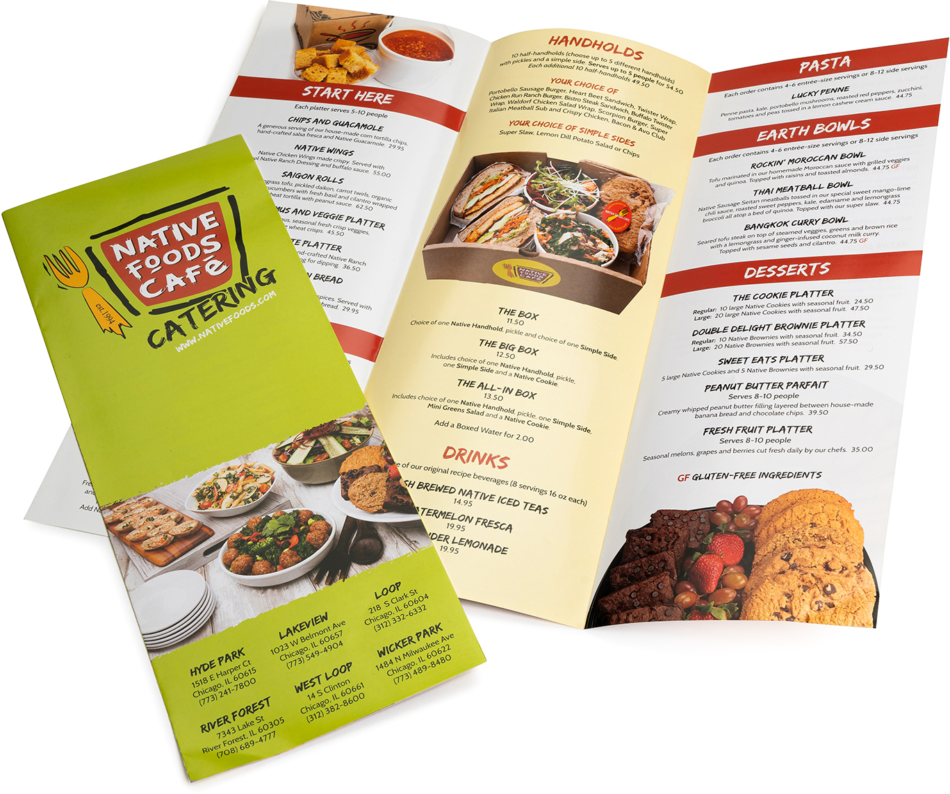 Restaurant trifold digital, menu, flyer