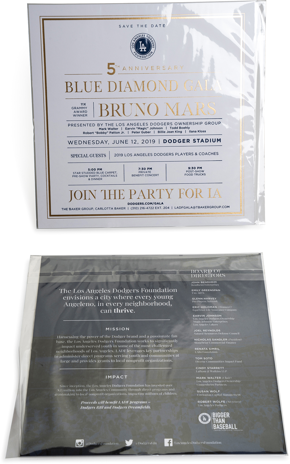 Music offset, invitations, metallic ink, special wrapping