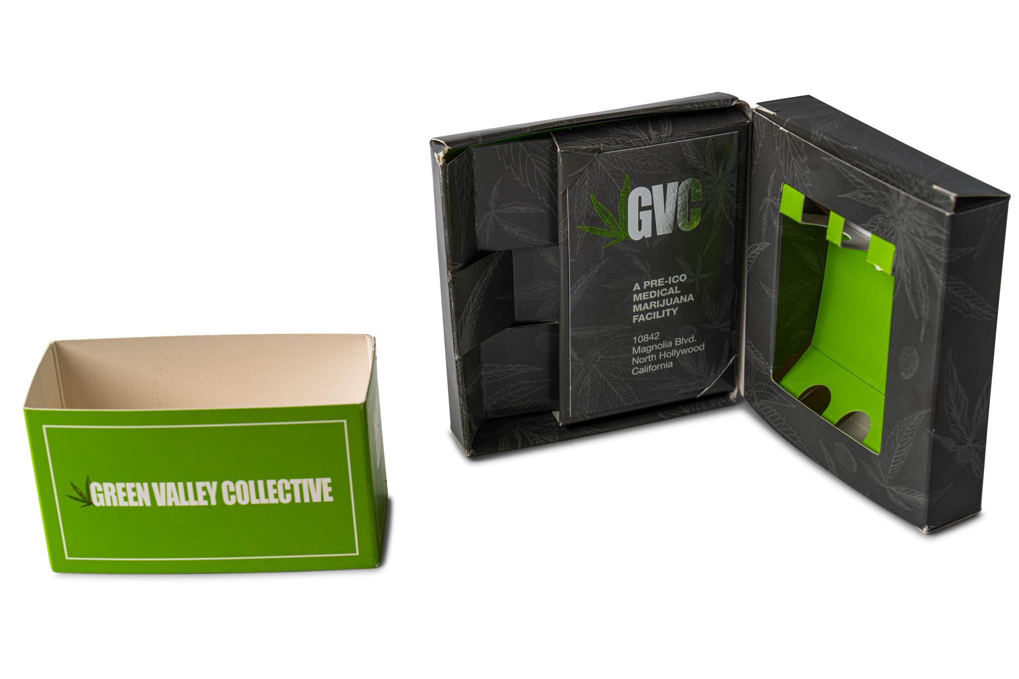 Cannabis Die Cut Box with Sleeve