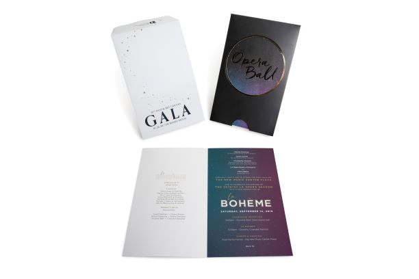 Nonprofit Gala Event Invitation, Die Cut, Custom Envelope, Metallic Ink, Offset Printing