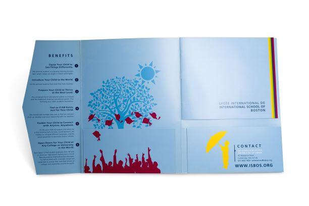 Private School Custom Presentation Folder with Pockets