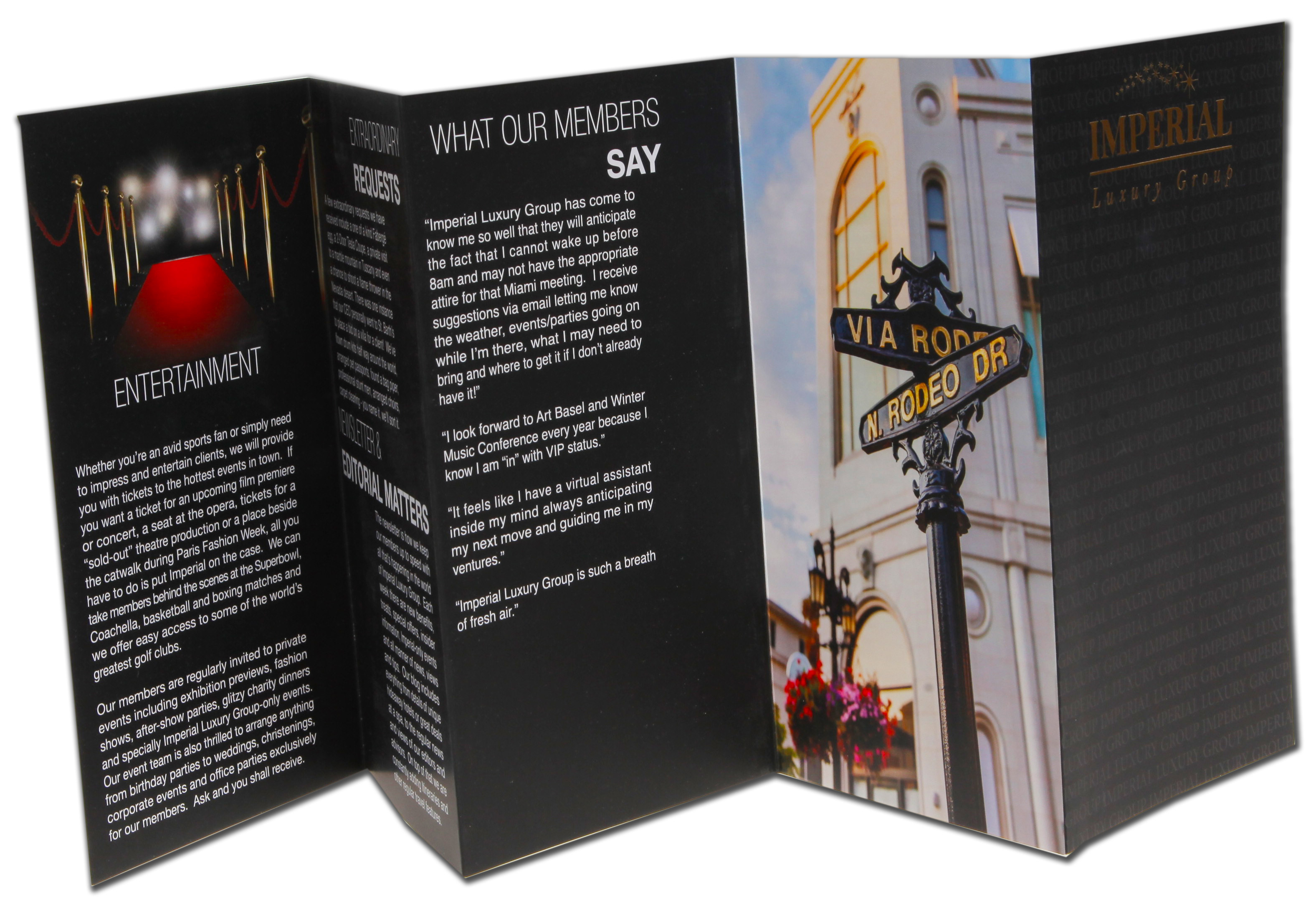 Multifold Brochure Design Printing Los Angeles Green