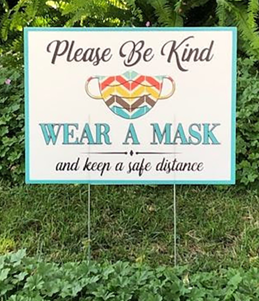 Coroplast Sign Wear a Mask Safety COVID-19