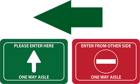Aisleway Traffic Flow Floor Decal Kit | COVID-19