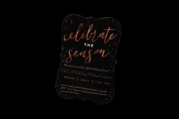 Custom Die Cut Announcement Invitation Card Holiday