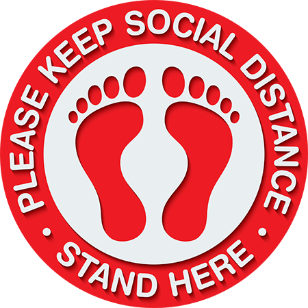 Social Distancing Floor Decal | COVID-19