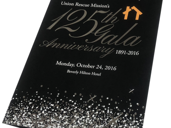 Invitation Print Sample - Union Rescue Mission