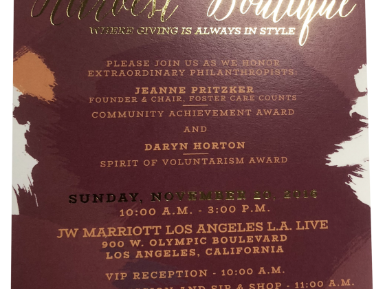 Invitation Print Sample - Harvest Boutique - Junior League of Los Angeles