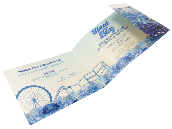 Invitation Print Sample - Die Cut, Tri Fold, Digital