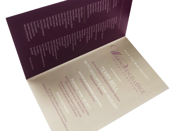 Invitation, Foil Print, Folded, Digital Printing, Print Sample
