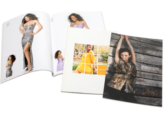 Catalog: offset printing, perfect bind