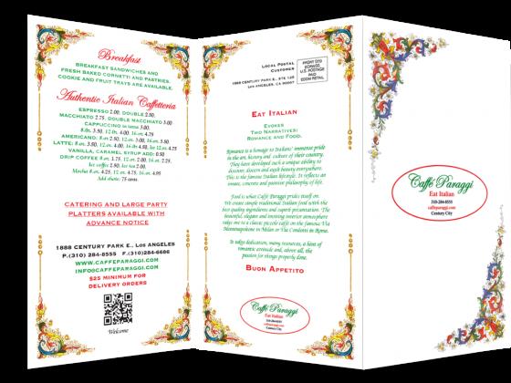 EDDM® brochure restaurant