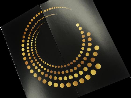 Invitation, Metallic Foil Printing, Tri-fold, Die-Cut, Digital Printing, Print Sample