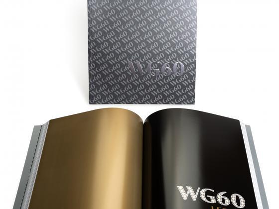WG perfect bind, ad book, tribute book, offset, metallic ink
