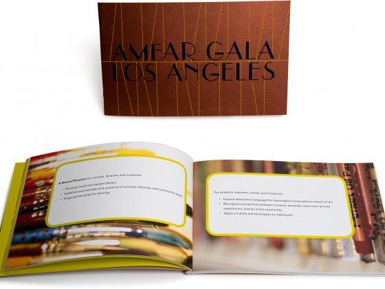 Nonprofit perfect bind, program, metallic ink, digital