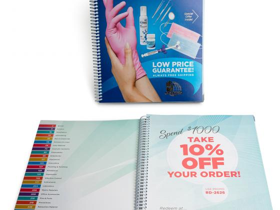 Product spiral bind, catalog, offset
