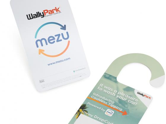 Travel parking digital, door hangers, die cut