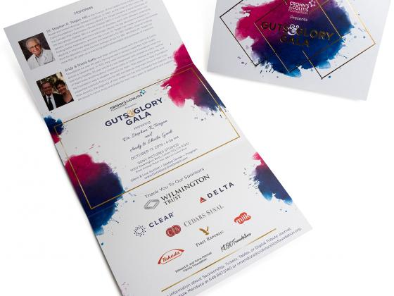 Glory digital, invitations, metallic ink