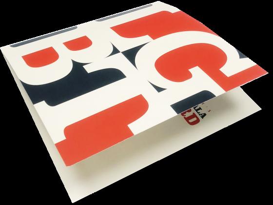 Invitation, Digital Printing, Folded, 4 Color, Print Sample
