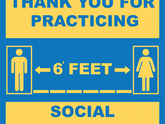 6' Apart Social Distancing Floor Decal (SQUARE) | COVID-19