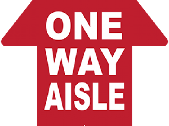 One-Way Aisle Arrow Floor Decal | COVID-19