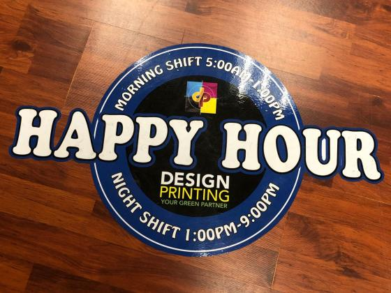 Labels, Stickers, Floor Sticker, Wall Sticker, Signage Large Format Custom
