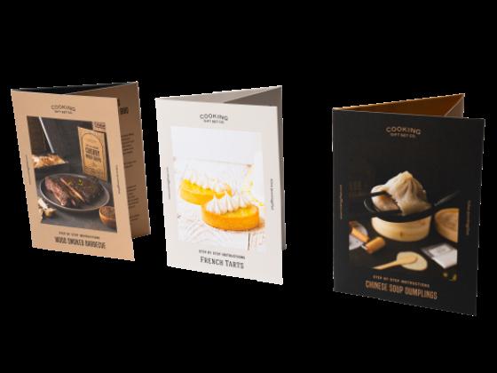 Multifold restaurant food menu brochure