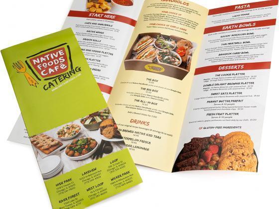 Direct Mail brochure restaurant menu