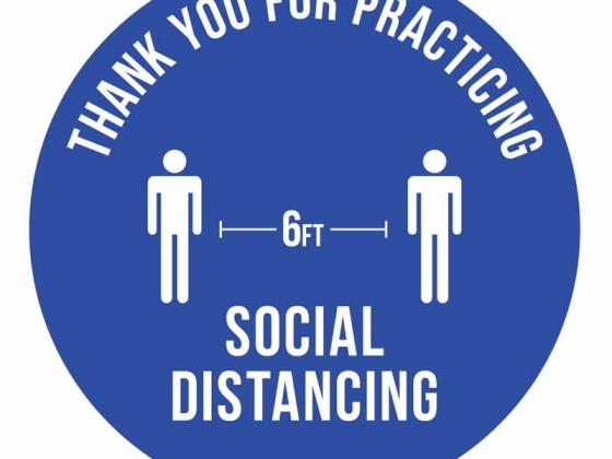 6' Apart Social Distancing Floor Decal (CIRCLE) | COVID-19